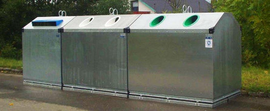 Contenedores Metálicos para Reciclaje