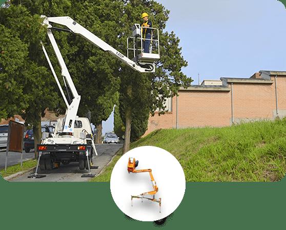 Solución Mantención de Arbustos y Arbolado - EAX - Hidroelevador