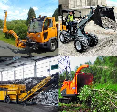Productos EAX Equipos para Aseo urbano, Tratamiento de Residuos, Mantenimiento Urbano, Energía y Espacios Públicos